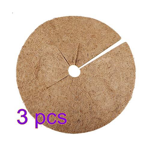 Jycra Lot de 3 tapis de paillage en fibres de coco naturelles 45 cm 17.9inch Marron 45 cm.