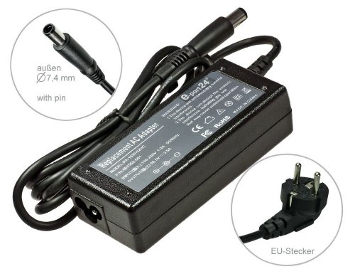 65W 18,5V Notebook Power Adapter AC Adapter oplader voor HP Compaq EliteBook 2740p HP Compaq Mini 5103 5101 5102 HP Compaq Airlife 100 HP Compaq Envy 13 14 17 13t 14t HP Compaq MiniNote 2133 HP Compaq Omnibook 2000 5000 2000CS 2000CT, met Euro Stroomkabel