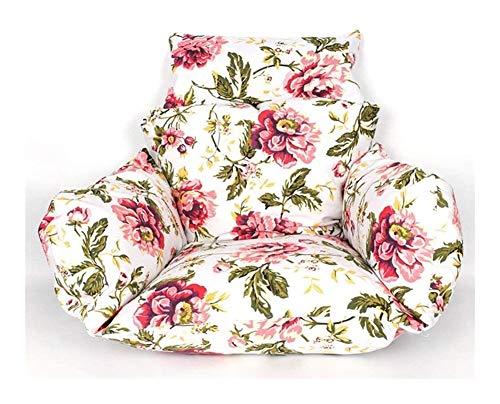 Soft Hanging Egg Hammock Chair Cushions,Extra-Comfortable Balcony Garden Cushion Cradle Chair Nest Seat Cushion Removable Back Chair Cushion 915 (Color : C)