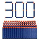welltop 300 Piezas de Recarga Bullet Foam Darts Ammo Pack para Nerf N-Strike Elite Series Blasters Kids Toy (Azul)