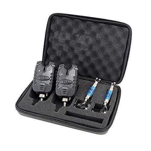 Fischerei-Bissanzeiger und LED-Swinger-Set Blaue LED-Lichtfischerei-Alarmanzeigen (B1137)