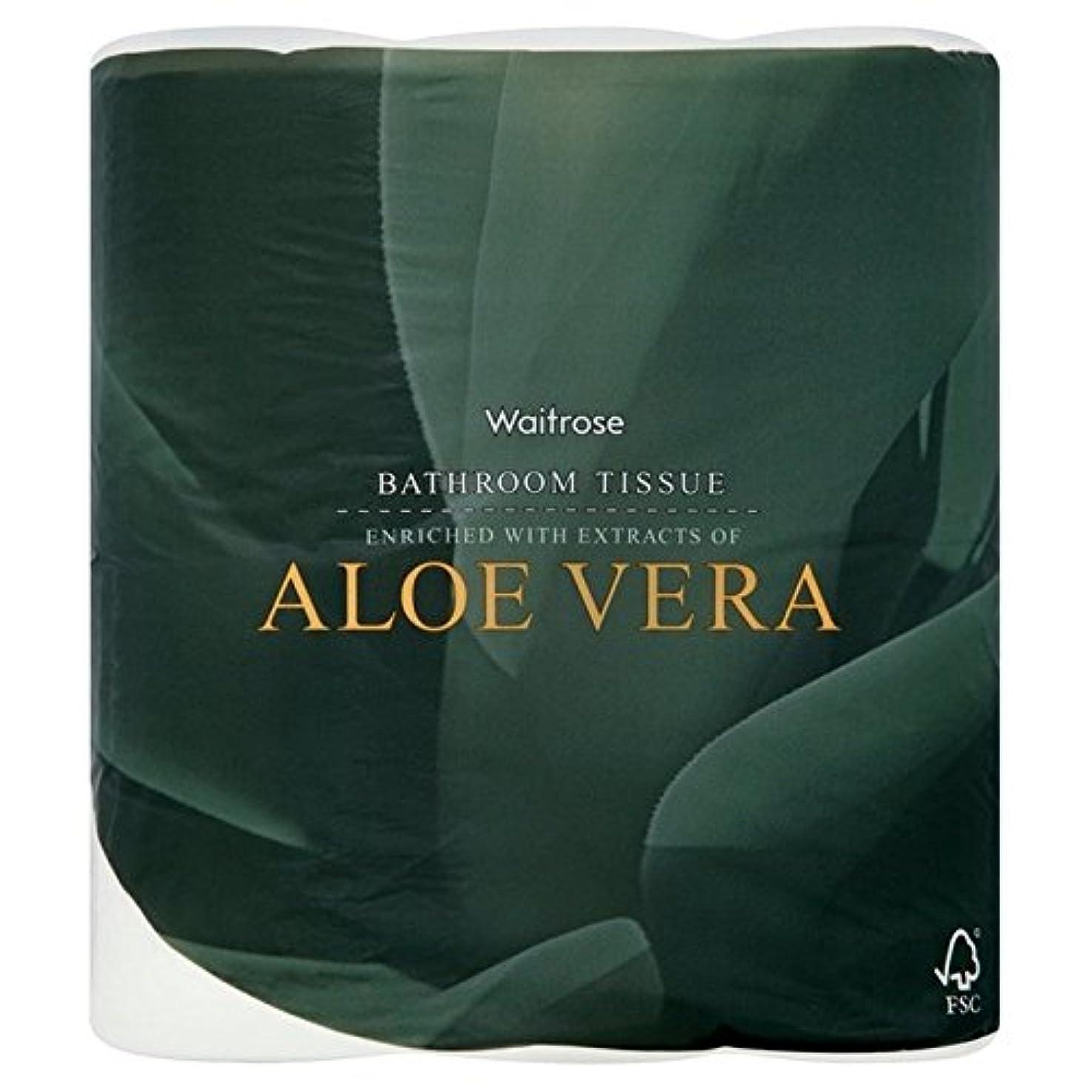 残酷会員残るパックあたりアロエベラ浴室組織白ウェイトローズ4 x4 - Aloe Vera Bathroom Tissue White Waitrose 4 per pack (Pack of 4) [並行輸入品]