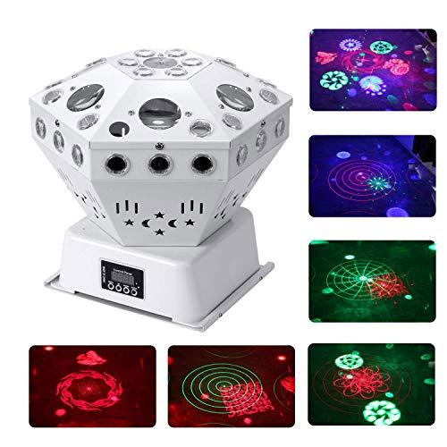 HWZSZSH Patrón de luz de Escenario, Luces de Fiesta RGB activadas por Sonido DJ Lighting, 63 Luces de Barra LED y Control DMX for DJ Party/Disco/Wedding/Club/Pub/Event/Bar