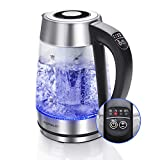 Aigostar Electric Kettle Temperature Control & Tea Infuser 1.7L, Hot Water Tea Kettle with Variable Temperature LED Indicator Light Change Auto Shut-Off