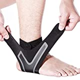 Ankle Brace-Ankle Support with Super Elastic and Comfortable Adjustable Ankle Brace for Men Ankle Wrap Prevent Sprained Ankle Perfect for Sports Compression Ankle Brace for Women (Left, S)