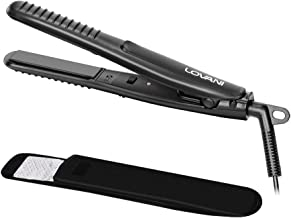 LOVANI Mini Flat Iron Travel Size Nano Titanium Dual Voltage Portable Hair Flat Iron For Worldwide Use 0.5 Inch Hair Straightener with Professional Heat Resistant Travelling Bag