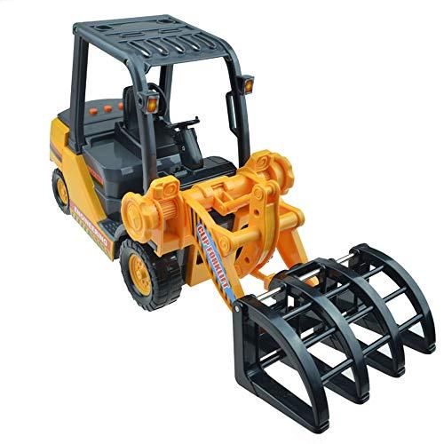 Xolye Große Musik Clip Gabelstapler Spielzeug Simulation Engineering Fahrzeug Modell Dekoration Sammlung Klang und Licht Trägheit Vorwärts Junge Kind Spielzeug Auto Geschenk