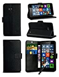 For Microsoft Lumia 640 XL LTE - Black Textured Carbon