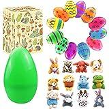 Uova di Pasqua colorate a sorpresa, 12 mini giocattoli animali, bomboniere pasquali, premi in aula, decorazioni per feste