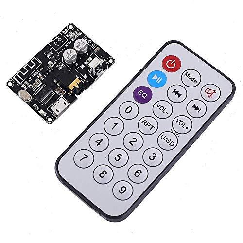 DollaTek BLE 5.0 Modulo Ricevitore Audio Stereo Bluetooth Decoder DC 3.7V-24V per Controllo Volume Amplificatore Altoparlante Regolabile Fai da Te Tensione