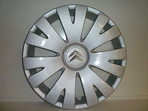 Set mit 4 Radkappen für Citroen Berlingo 1998/2008 R 15 (Chrom-Logo)