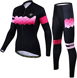 Autumn Jersey Women's Long Sleeve Set Sunscreen Breathable Top Pants Outdoor Riding Equipment Bike Jersey Set Bike Jersey for Women LPLHJD