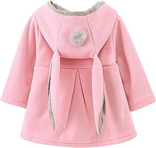 f7856e93a125c Tomwell Manteau de Bébé Fille Enfant Petites Filles Manche Longue Lapin  Ears Manteau à Capuchon Vêtements