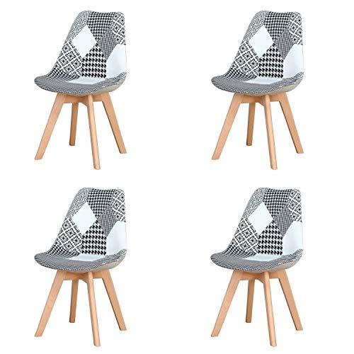 Sillas De Comedor Modernas Negras sillas de comedor modernas  Marca JIASEN