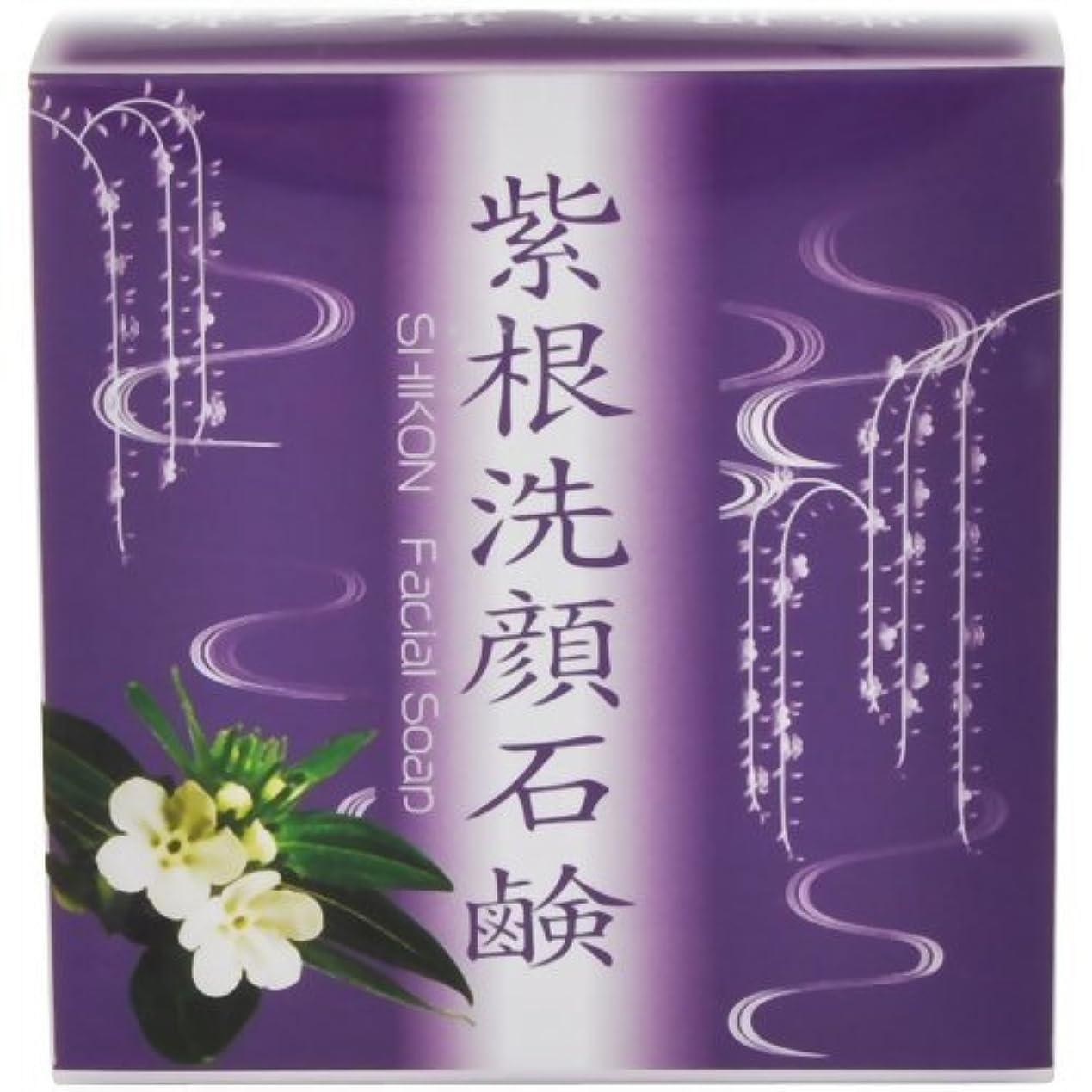 パウダー保持するエクスタシー紫根洗顔石鹸泡立てネット付き80g[ネット付き80g]