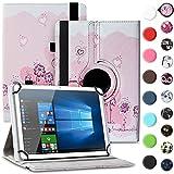 Nauci Tablet Hülle für Xido Z120 Z110 X111 X110 Tasche Schutzhülle Hülle Cover aus Kunstleder Standfunktion 360° Drehbar, Farben:Motiv 1
