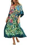 YouKD Cárdigan de Verano para Mujer Vestido Largo Bohemio Vestido de Playa Túnica Kimono...