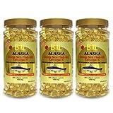 3 Bottles x Bill Natural Sources Alaska Deep Sea Fish Oil 1000mg, 200 softgels (3)