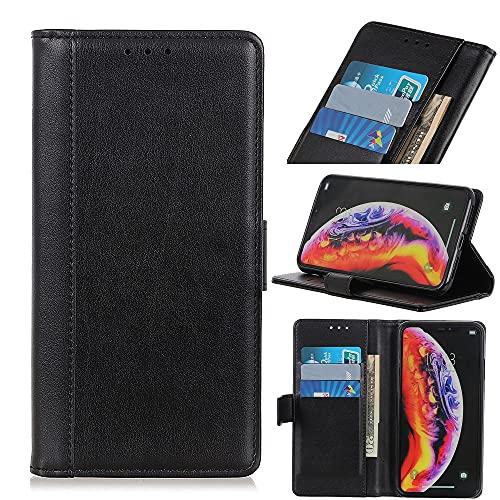 SZCINSEN Funda con tapa para Nokia C3, cuero sintético premium, ranuras para tarjetas, cierre magnético, a prueba de golpes, color negro