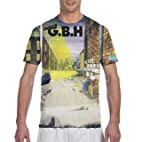 DOMINICHIGGINS Men's All Printing T-Shirt Mans 3D Charged GBH Tees S Black