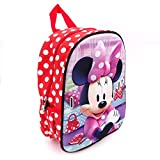 Disney Minnie Mouse Kinderrucksack, Kindergartenrucksack, rot, 32x25x12cm inkl. Maske