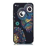 LAXIN P8 Lite (2017) Case, Cute Owl Design Printed Soft Back Cover with TPU Bumper Protective Case...