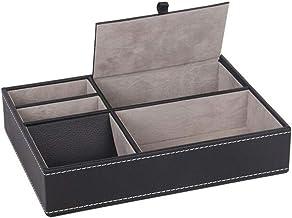 Valink Etui ochronne ze skóry PU zegarek biżuteria pierścień witryna pudełko do przechowywania taca na biurko organizer dl...