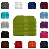 4 tlg. Handtuch-Set in vielen Farben - 4 Handtücher 50x100 cm - Farbe apfelgrün