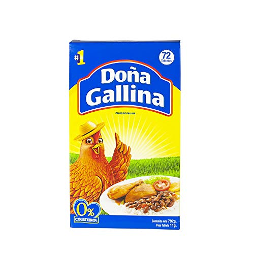 Hühnerbrühe aus der Dominikanischen Republik, Display mit 72 Würfel, 792g - Caldo de Gallina DOÑA GALLINA 792g