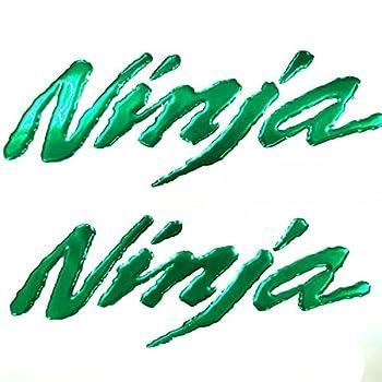 Green 3D Logo Emblem Sticker Decal Polish Gloss Raise Up Compatible with Kawasaki Ninja 250 300 400 650 1000