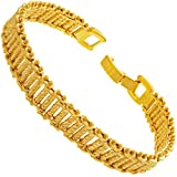 LIFETIME JEWELRY 10mm Riccio Bar Bracelet 24k Real Gold Plated for Women and Men (7)