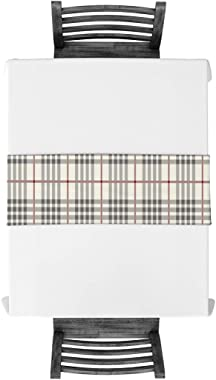 ARTSHOWING Rustic Table Runner Grey Ivory Red Buffalo Check Plaid Rectangular Runner for Party Decoration Wedding Baby Shower