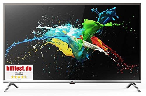 CHiQ 80cm (32 Zoll)  L32D5T Full HD LED Fernseher, Triple Tuner, HDMI, USB, CI+, H.265, Dolby Plus, Hotelmode, metallisches Grau [Energieklasse A+]
