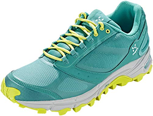 Haglöfs gram Gravel, Zapatillas de Trail Running Mujer, Verde (Crystal Lake/Star Dust 3wg), 37 2/3 EU