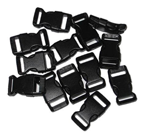 "1/2"" Curved Side Release Buckles for Paracord Bracelets (Ships From USA) 5-250 count (25)"