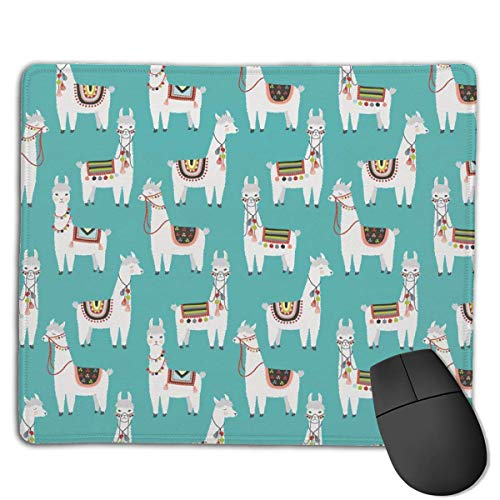 Gaming Mouse Pad Peruanisches Lama Mexikanisches Alpaka Ethnische Decke Rechteck Rutschfeste Gummi Mauspads Mousepad Matte für Computer Laptop Home Office Game Desk