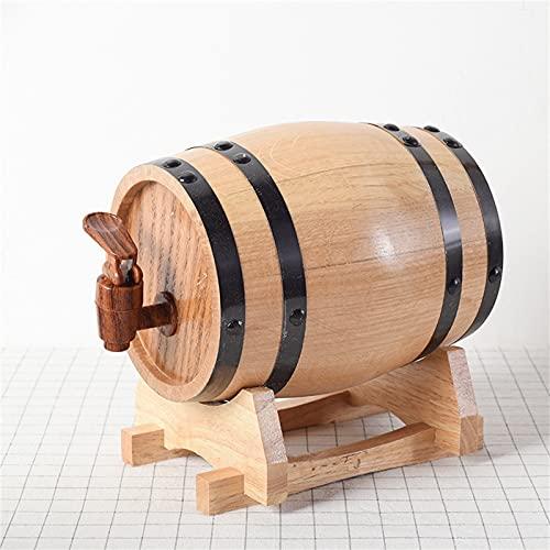 QinWenYan Barril Envejecido 1 litro Barril Mini Barril de Madera Bodega Barril Barril Barril Barril Barril de Vino para casa (Color : Imitation Wood Faucet, Size : 11x16cm)