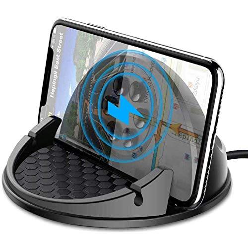 Beeasy 15W Fast Wireless Charger Auto, Qi Induktive Ladestation Fast Charge Handyhalter fürs Auto kfz Kabelloses Ladegerät Kompatibel mit Smartphone Samsung iPhone 12 11 Pro XS Max XR X 8 Plus