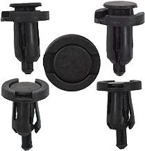 100 Pcs 8mm Car Hole Plastic Rivets Fastener Fender Bumper Push Pin Clips