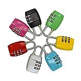 Lvcky Equipaje candado de Viaje Cerradura de combinación código cerraduras Gimnasio Puertas Deportes Equipaje Escuela armarios Pack de 6( )