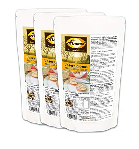 Dr. Almond Low Carb Paleo Backmischung UNSER GOLDENES glutenfrei sojafrei (3er Pack)
