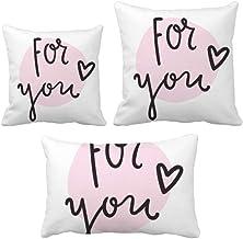 DIYthinker For You Conjunto de almofadas escritas à mão Capa de almofada para sofá de casa