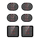 スレンダートーン対応 交換パッド Coomatec スレンダートーン 交換パッド3点x2セット(正面用2枚 + 脇腹用4枚)