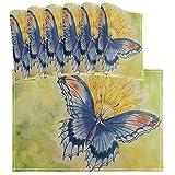 Juego de Mantel Individual Vintage Girasol Mariposa de 6 tapetes de Mesa Lavables Resistentes al Calor para Cocina Comedor Decorativo