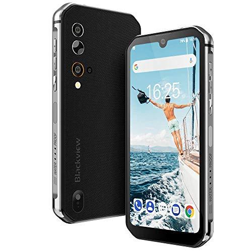 """Rugged Smartphone,Blackview BV9900 Pro Cellulare Antiurto con Termocamera FLIR®, 48MP+5MP+2MP+16MP, Helio P90 8GB + 128GB, 5.84"""" FHD+, 4380mAh, Ricarica Wireless, Android 9.0, Rete Globale-Grigio"""