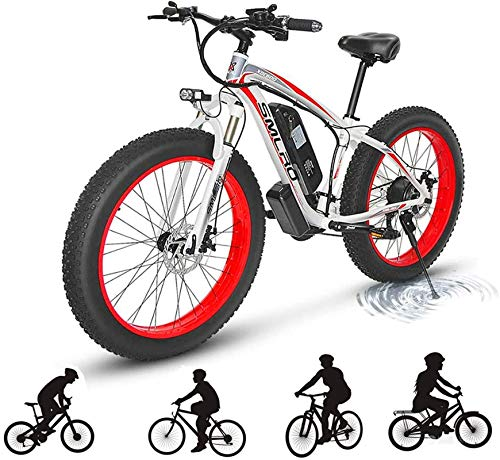 RDJM Bici electrica 500W bicicleta eléctrica de montaña for adultos, 48V 15AH batería de litio de aleación de aluminio de ciclo de la bicicleta de montaña, E-Bici con el 27-Speed Professional Transm