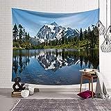 jtxqe Nordic ins Arte de la Tela Tapiz de impresión Digital Manta de la Pared Toalla de Playa Serie Cuadrada Paisaje 176 150x130