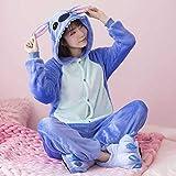 HONGSHU Dinosaurier Tier EIN Stück Pyjama Weiblich Pikachu Cartoon Anime Erwachsen Männlich Winter...