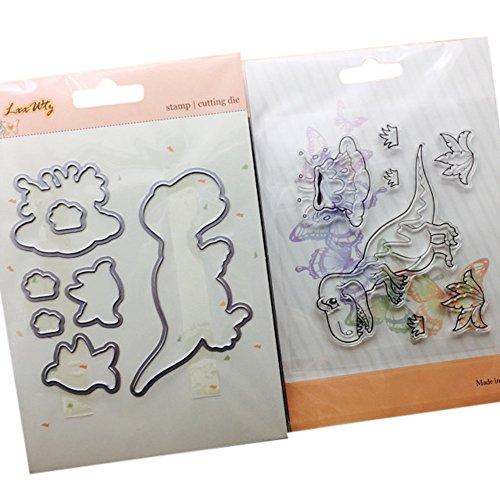 Troqueles para álbumes de Recortes VEMOW Gofrado Troquelado Kit Almohadilla de Papel Dies Corte en Relieve Papel Craft Arte de Tarjeta para álbum de Recortes (H)