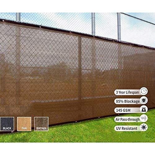 YUDEYU Alta Eficiencia Red De Sombra Industria Oclusión De Privacidad A Prueba De Viento Polvo Cerca Al Aire Libre Rectángulo (Color : Brown, Size : 1.2x16m)